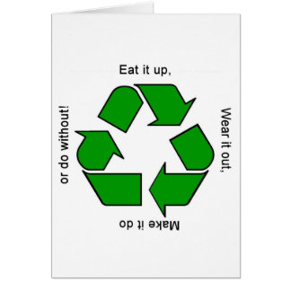 New Recycle Motto Products Card