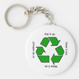 New Recycle Motto Products Keychain