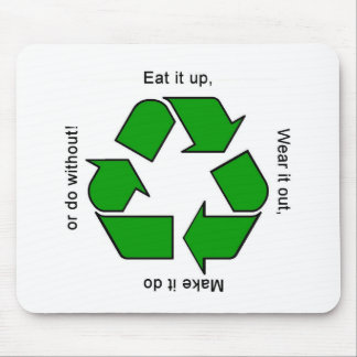 New Recycle Motto Products Mouse Pad