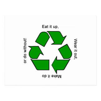 New Recycle Motto Products Postcard