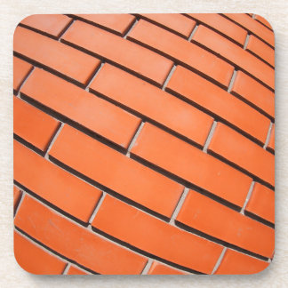 New red brick wall with distortion lens drink coaster