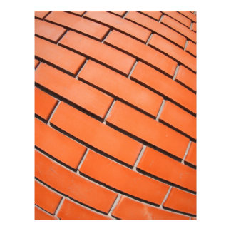 New red brick wall with distortion lens letterhead
