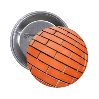 New red brick wall with distortion lens pinback button