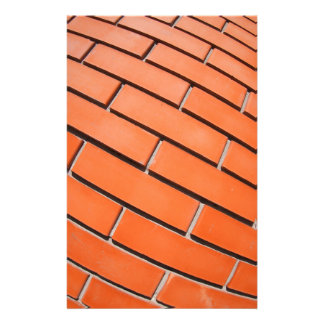 New red brick wall with distortion lens stationery