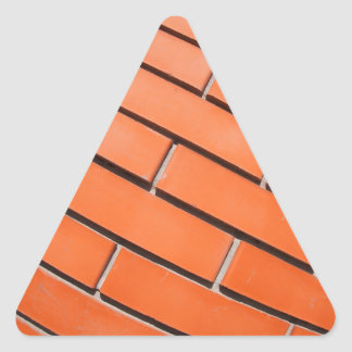 New red brick wall with distortion lens triangle sticker