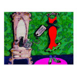 New Red Dress ~  Postcard / Invitation