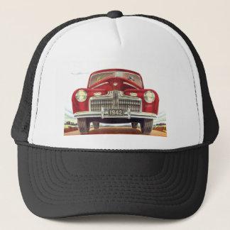 New Red Vintage Car Trucker Hat