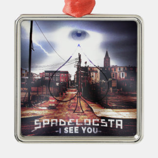 New Release I See You WorldWide Metal Ornament