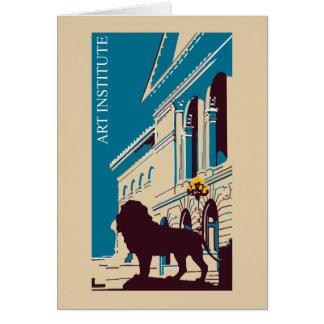 New Retro art institute Chicago advertising Card