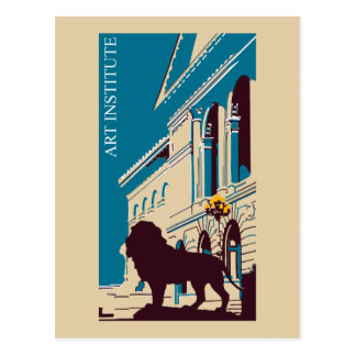 New Retro art institute Chicago advertising Postcard
