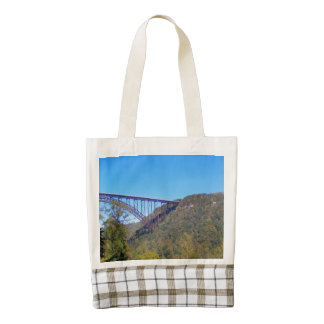 New River Bridge Fayette County Zazzle HEART Tote Bag