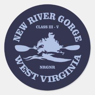 New River Gorge Classic Round Sticker