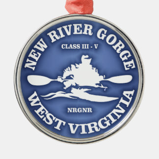 New River Gorge Metal Ornament