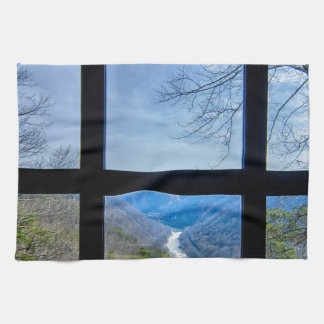new river gorge west virginia view window canyon towels