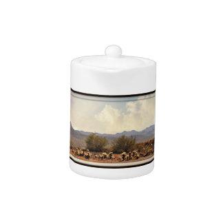 New River Landscape Tea Pot