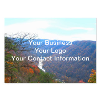 New River Scenery Large Business Card