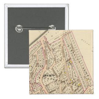 New Rochelle guarda 1, 3, Nueva York Pin Cuadrado