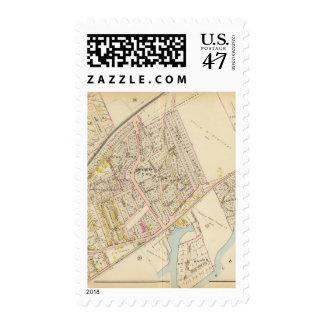 New Rochelle guarda 1, 3, Nueva York Timbres Postales