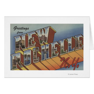 New Rochelle, New York - Large Letter Scenes Card