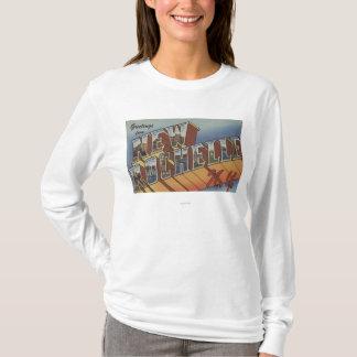 New Rochelle, New York - Large Letter Scenes T-Shirt