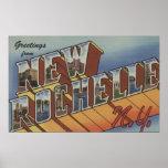 New Rochelle, Nueva York - escenas grandes de la l Poster