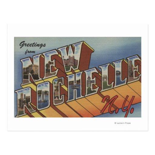 New Rochelle, Nueva York - escenas grandes de la Postales