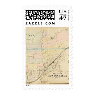 New Rochelle, NY 2 Timbre Postal