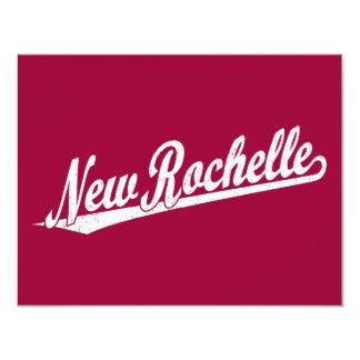 New Rochelle script logo in white distressed Announcements