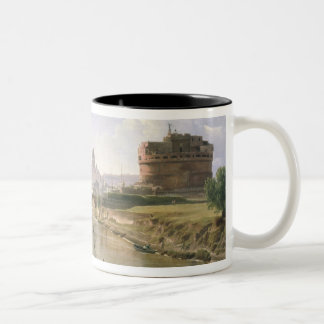 New Rome with the Castel Sant'Angelo Two-Tone Coffee Mug