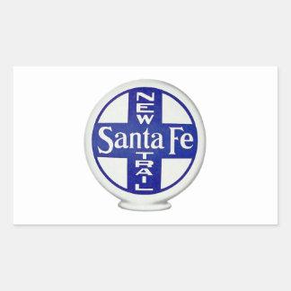 New Santa Fe Trail - Vintage Advertising Rectangular Sticker