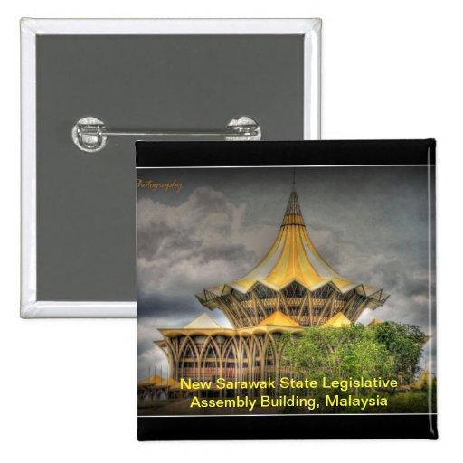 New Sarawak State Legislative Assembly Building, M Pinback Button