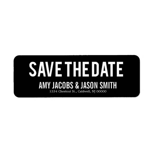 New Save The Date Return Address Labels