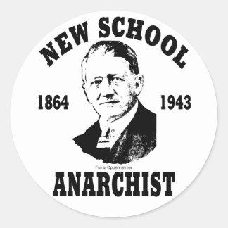 New School -- Franz Oppenheimer Classic Round Sticker