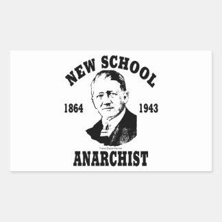 New School -- Franz Oppenheimer Rectangular Sticker