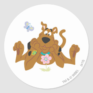New Scooby Doo Review Pose 40 Classic Round Sticker