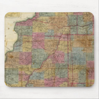New sectional map of the state of Illinois 2 Mouse Pad