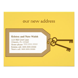 New Set of Keys Moving Announcement Personalized Invitations