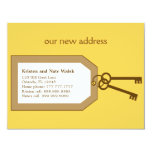 """New Set of Keys Moving Announcement 4.25"""" X 5.5"""" Invitation Card"""