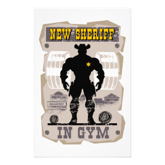 new sheriff in gym stationery