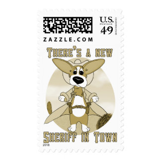 New Sheriff in Town Postage Stamps