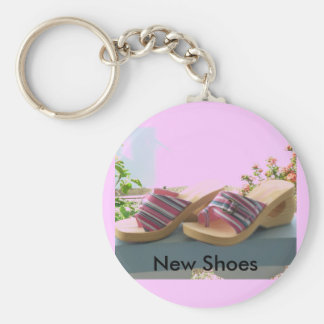 New Shoes Basic Round Button Keychain