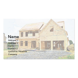 new single family home under construction business card templates