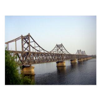 New Sino-Korean Friendship Bridge Over Yalu River Postcard