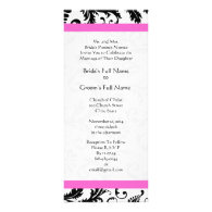 New Sizes Damask Swirls Wedding Invitation