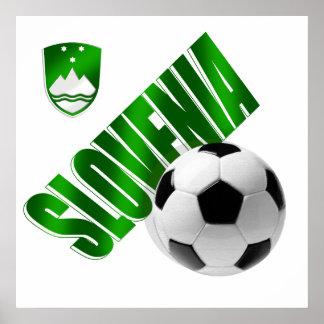 New Slovenia glossy green emblem soccer gifts Print