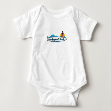 Beach Themed New Smyrna Beach. Baby Bodysuit