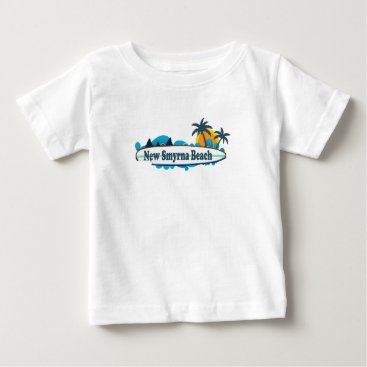 Beach Themed New Smyrna Beach. Baby T-Shirt