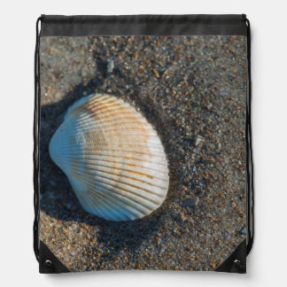 New Smyrna Beach, cockle shell Drawstring Backpack
