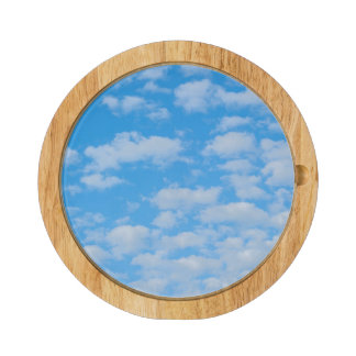 New Smyrna Beach, cumulus clouds Round Cheeseboard