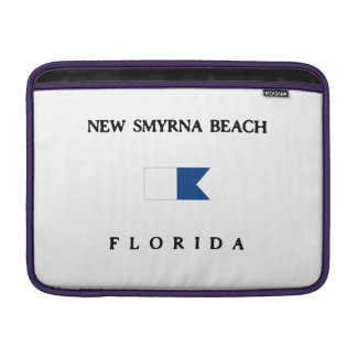 New Smyrna Beach Florida Alpha Dive Flag MacBook Sleeves